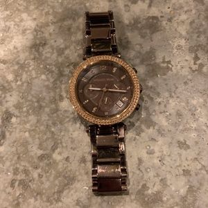 Chocolate and Rose Gold Michael Kors Parker Watch